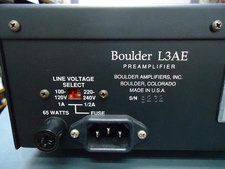 Boulder コントロールアンプ L3AE