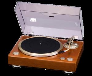 DENON 天然木仕上げキャビネットのレコードプレーヤーDP-1300MKII